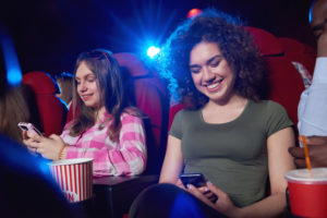 welcoming mobile phones into cinemas