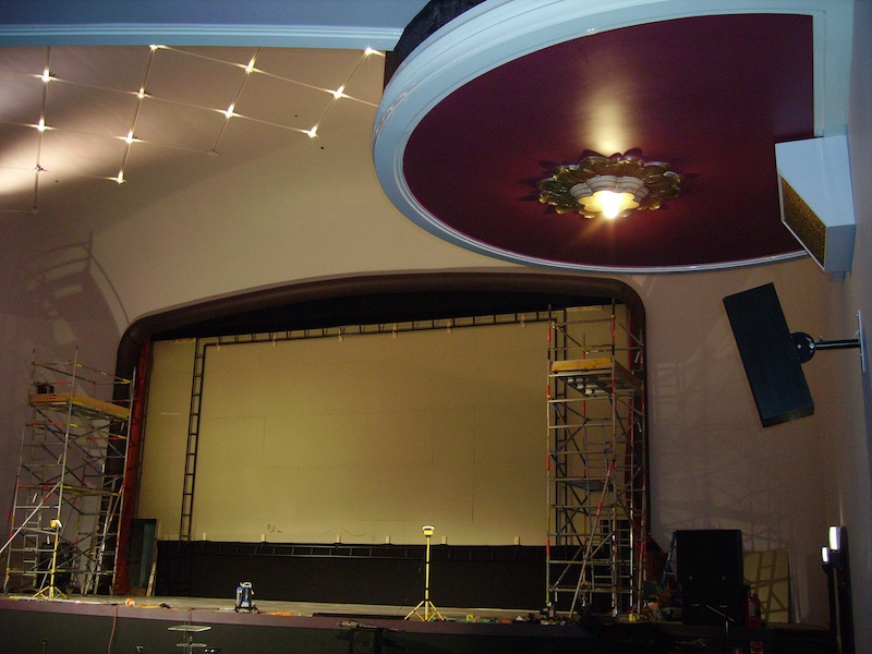 Screen installation by Specialty Cinema