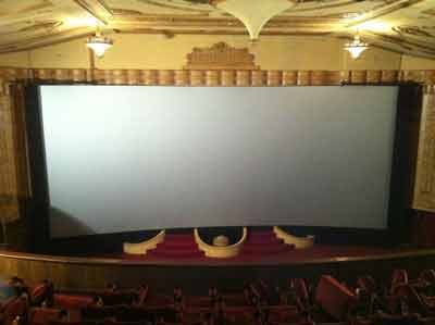 silver cinema screen
